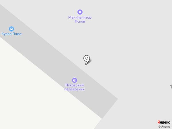 ЭНДИ на карте Пскова