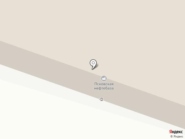 Псковская нефтебаза на карте Пскова
