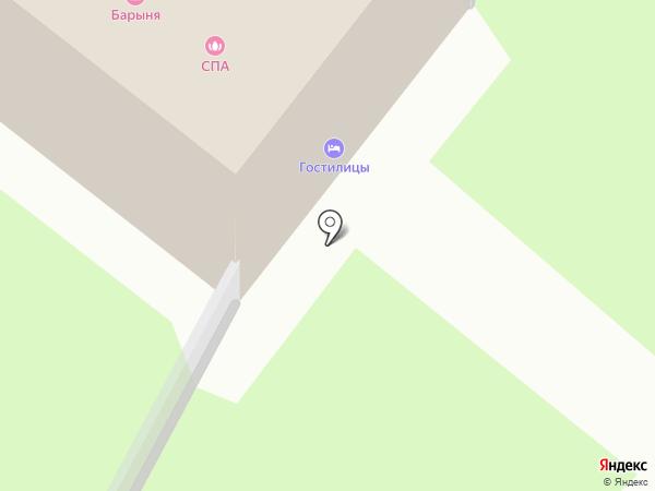 Барыня на карте Гостилиц