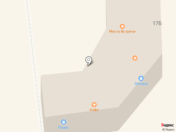 Магазин оптики и головных уборов на карте Санкт-Петербурга