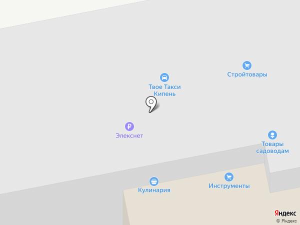 Элекснет на карте Кипеня