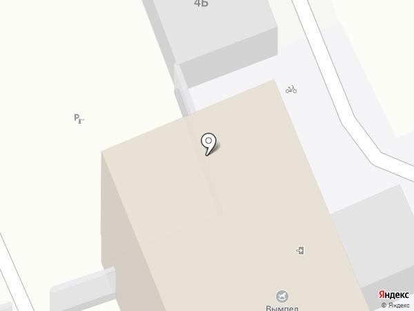 Вымпел на карте Санкт-Петербурга