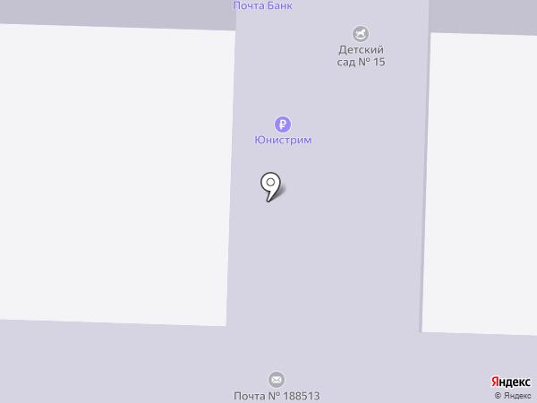 Детский сад №15 на карте Разбегаево
