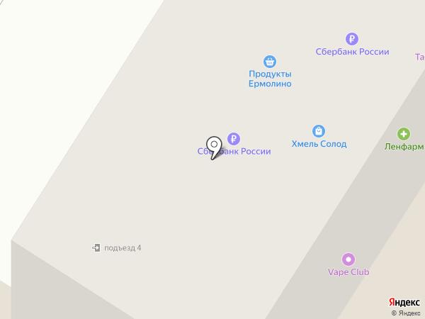Магнит на карте Гатчины