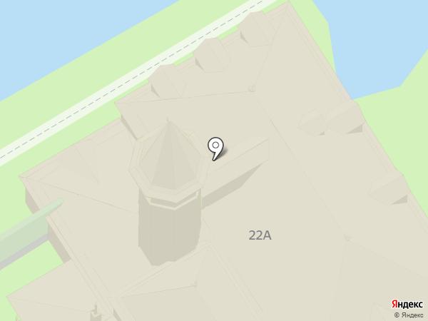 Приоратский дворец на карте Гатчины