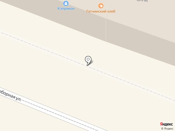 Дом хлеба на карте Гатчины