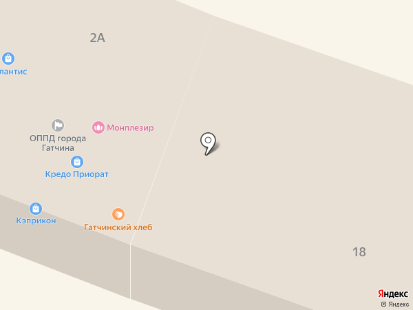 Гатчинский отдел по государственному энергетическому надзору на карте Гатчины