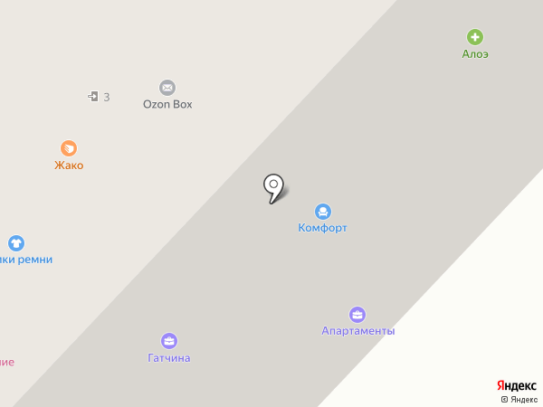 Комфорт на карте Гатчины