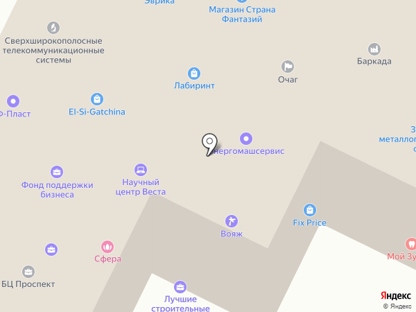 Туйна на карте Гатчины