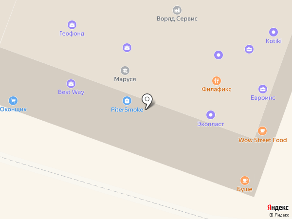 Адвокатский кабинет Сундетской И.Г. на карте Гатчины