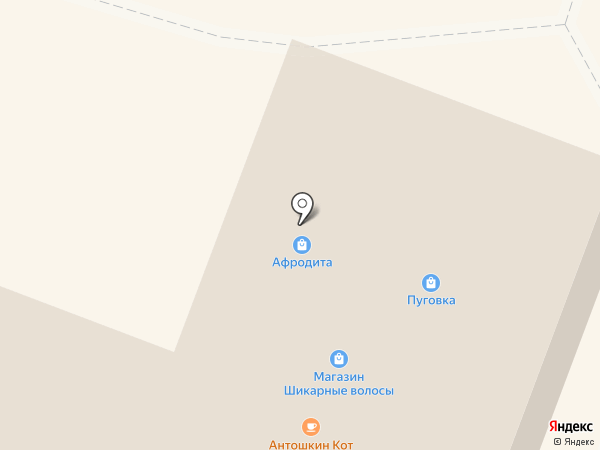 Афродита на карте Гатчины