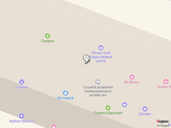 Озерки на карте Гатчины