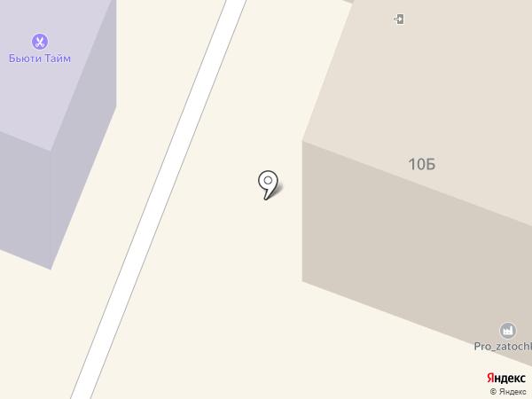 Силуэт на карте Гатчины