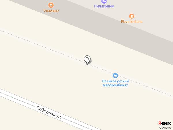 Буханка на карте Гатчины