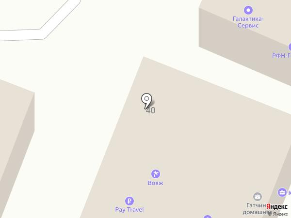 Вояж на карте Гатчины