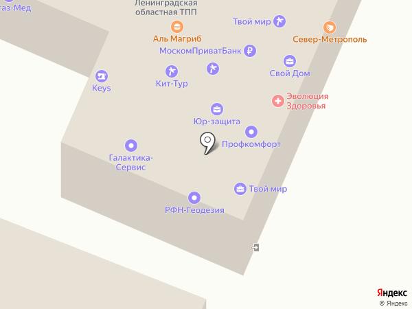 Первая Гатчинская коллегия адвокатов на карте Гатчины