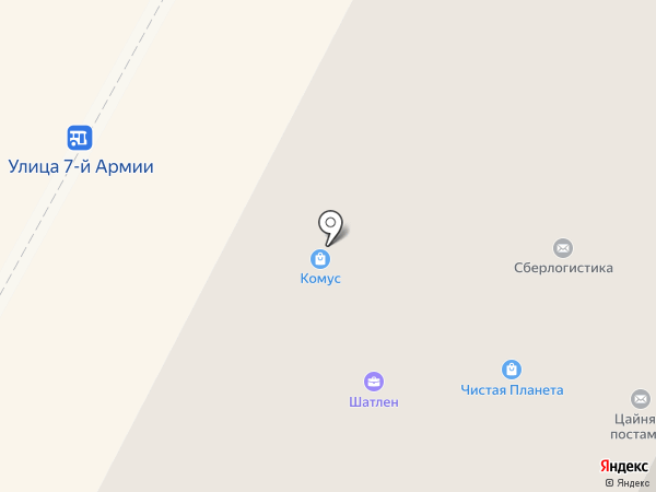 Красотка на карте Гатчины