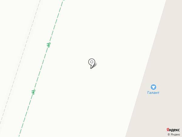 Рубин на карте Гатчины