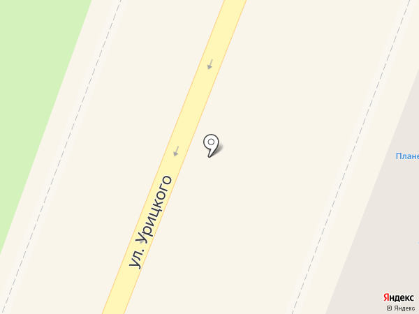 Локон на карте Гатчины