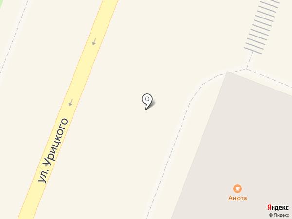 Анюта на карте Гатчины