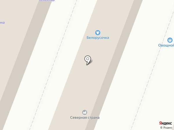 Телестар на карте Гатчины