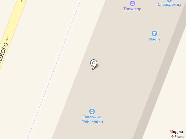 Магазин детской одежды на карте Гатчины