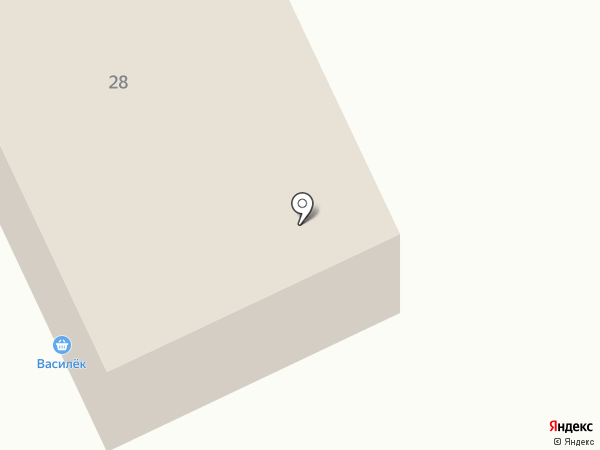 Василёк на карте Гатчины
