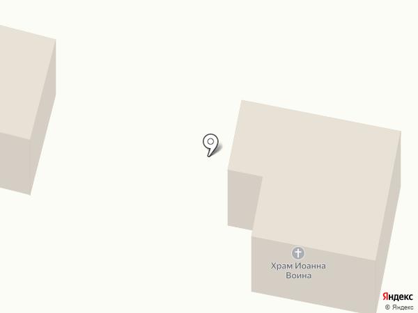 Храм Иоанна Воина на карте Малого Верево
