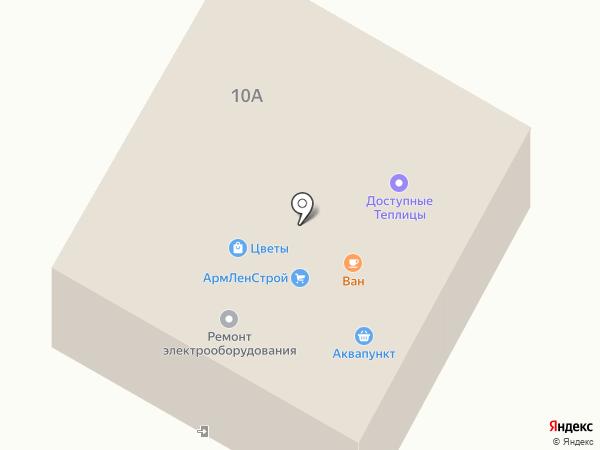 Шиномонтажная мастерская на Киевском шоссе на карте Малого Верево