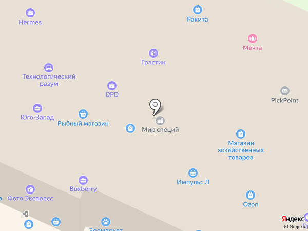 Сеть ювелирных мастерских на карте Санкт-Петербурга