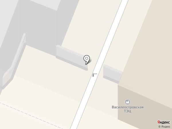 Василеостровская ТЭЦ-7 на карте Санкт-Петербурга
