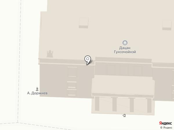 Дацан Гунзэчойнэй на карте Санкт-Петербурга