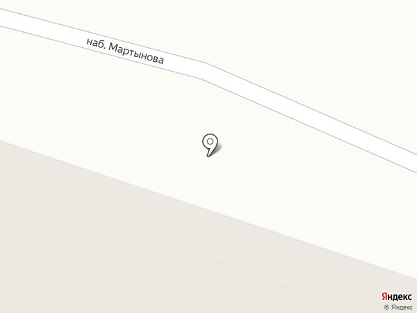 На Мартынова на карте Санкт-Петербурга