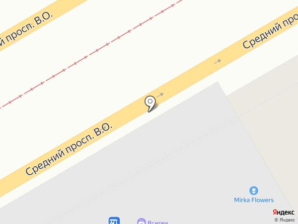 Санкт-Петербургская картографическая фабрика на карте Санкт-Петербурга