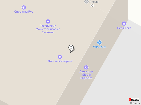 Санс на карте Санкт-Петербурга