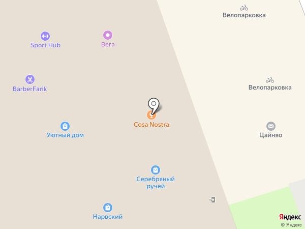 Прикид на карте Санкт-Петербурга