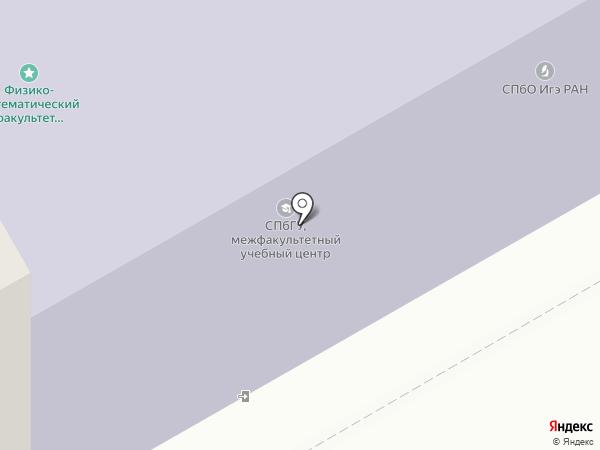 Институт геоэкологии РАН на карте Санкт-Петербурга
