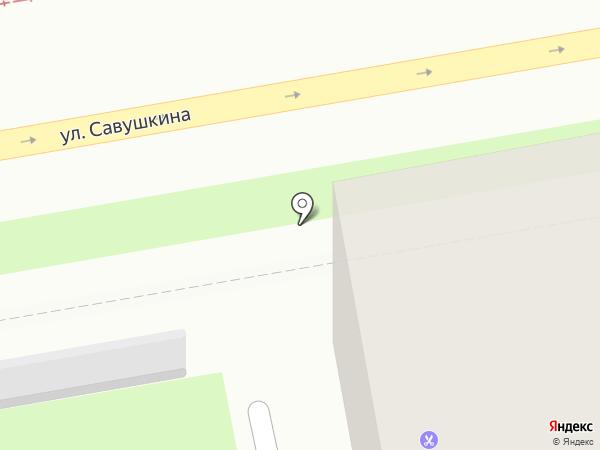 Круг на карте Санкт-Петербурга