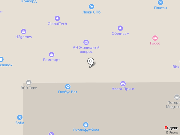 Климов и Компания на карте Санкт-Петербурга