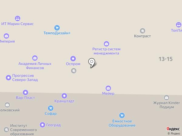 Циолковский на карте Санкт-Петербурга