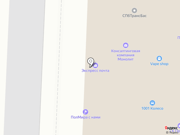 ТяжМаш СПб, ЗАО на карте Санкт-Петербурга
