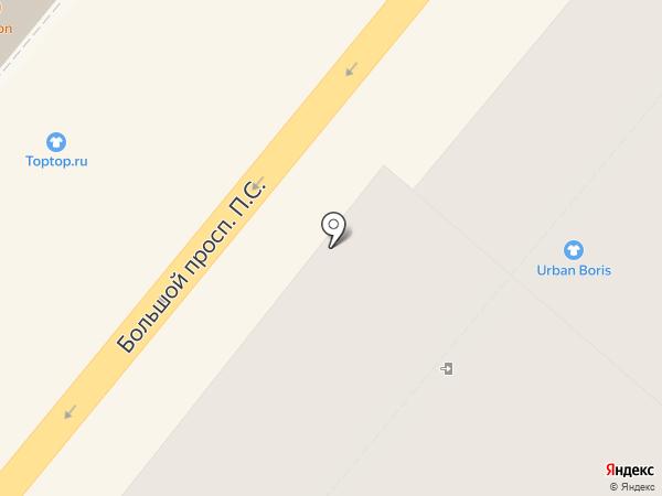 Бюстье на карте Санкт-Петербурга