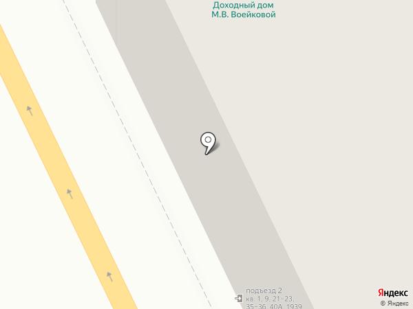 Златоуст. Дом Воейковой на карте Санкт-Петербурга