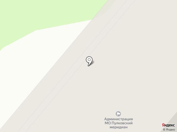 Муниципальное образование округ Пулковский меридиан на карте Санкт-Петербурга