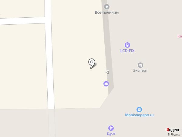 А-вектор на карте Санкт-Петербурга