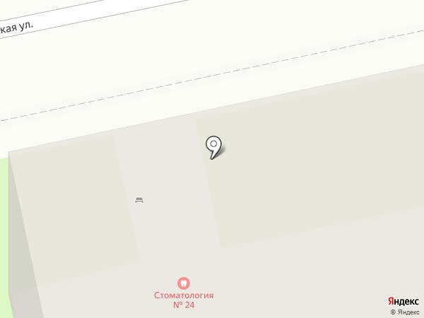 Городская стоматологическая поликлиника №24 на карте Санкт-Петербурга