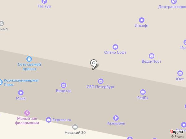 OPTIO TRAVEL на карте Санкт-Петербурга