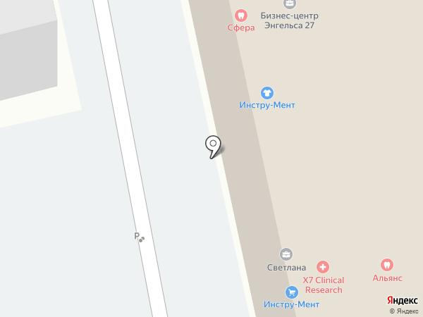 Офтальмооптика Холдинг на карте Санкт-Петербурга