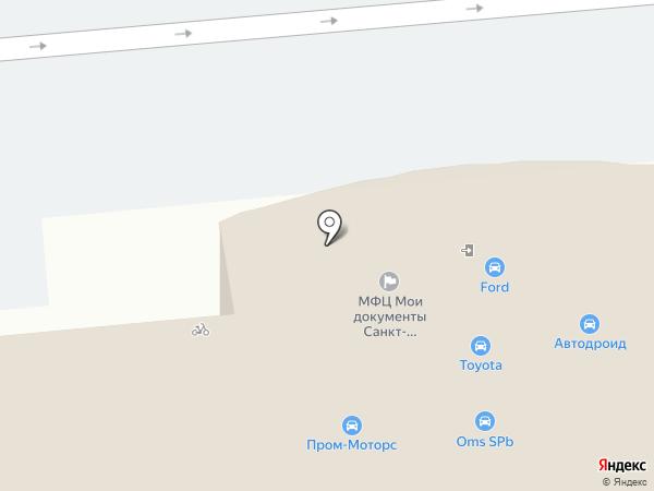 Опеликоф на карте Санкт-Петербурга