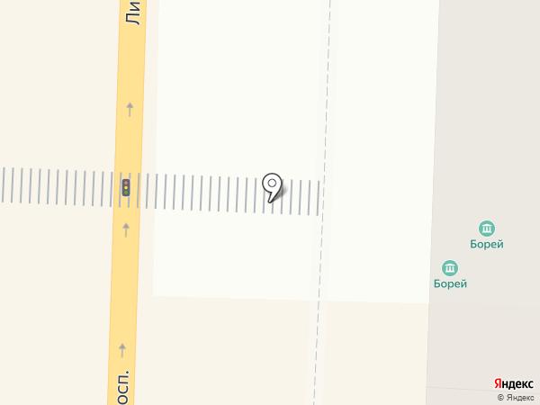 БОРЕЙ на карте Санкт-Петербурга